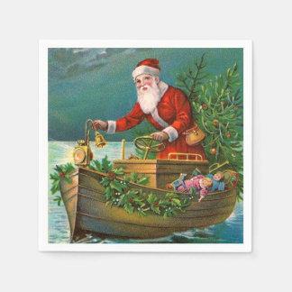 Santa Claus in Boat Paper Napkin