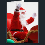 """Santa Claus in Christmas luge Card<br><div class=""""desc"""">Make impression with this large Christmas card prints with the Santa Claus in Christmas luge</div>"""