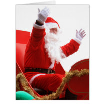 Santa Claus in Christmas luge Card
