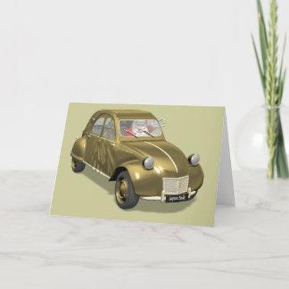 Santa Claus In Citroen 2CV Holiday Card