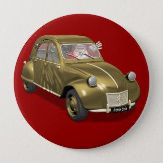Santa Claus In Citroen 2CV Pinback Button