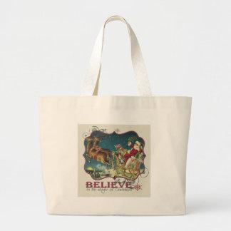 Santa Claus in Flying Sleigh.jpg Tote Bag