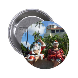 Santa Claus in Hawaii Pinback Buttons