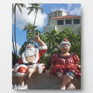 Santa Claus in Hawaii Display Plaques