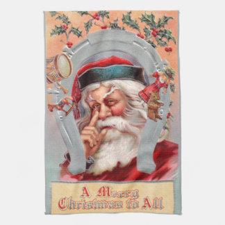 Santa Claus in Horseshoe Towel