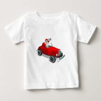 Santa Claus In Hot Rod Baby T-Shirt
