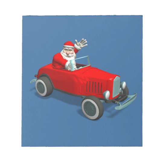 Santa Claus In Hot Rod Notepad