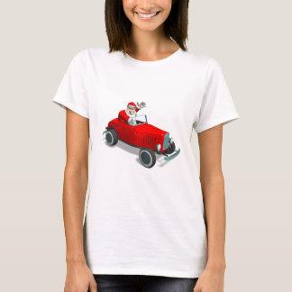 Santa Claus In Hot Rod T-Shirt