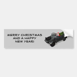 Santa Claus In Kuebelwagen Bumper Sticker