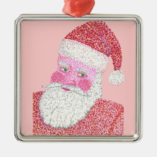 Santa Claus in Pointillism Christmas Ornament