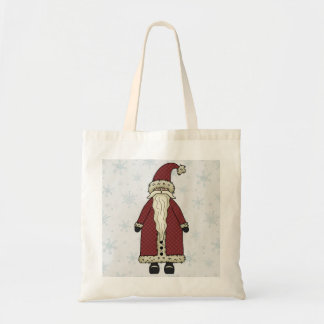 Santa Claus in Snow Gift Bag