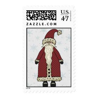 Santa Claus in Snow Stamp