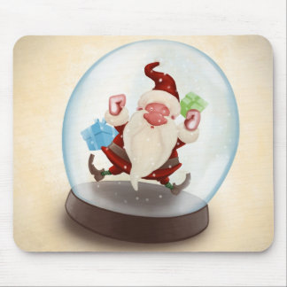 Santa Claus in snowball Mouse Pad