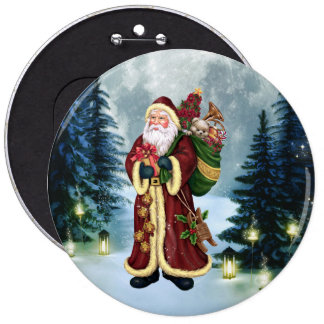Santa Claus In The Forest Pins
