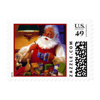 Santa Claus in Toy Shop Postage