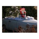 Santa Claus in Trabant Post Card