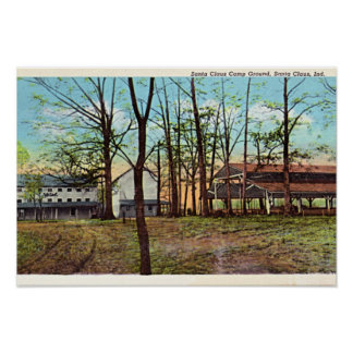 Santa Claus Indiana Camp Ground Posters