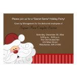 Santa Claus Invitation 2-sided Holiday Party Card
