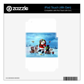 Santa Claus iPod Touch 4G Decal