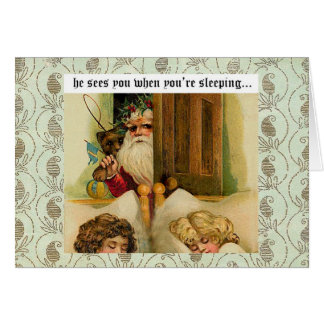 Santa Claus is comin' to town - greeting card