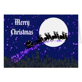 Santa Claus is Coming Christmas Card