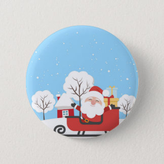 Santa Claus is coming Pinback Button
