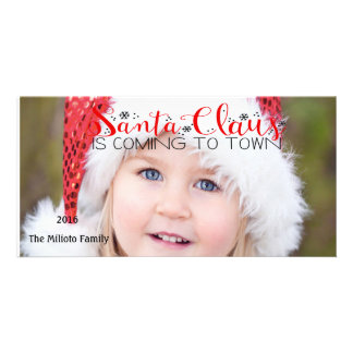 Santa Claus Is Coming To Town Photo Christmas Card