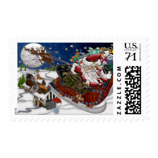 Santa Claus Is Coming To Town Postage Stamp