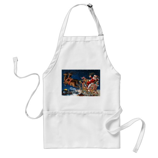 Santa Claus is Comming to Town Adult Apron