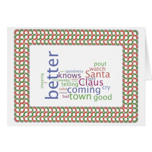 Santa Claus is comming to town Card