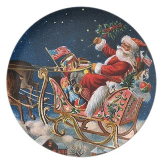 Santa Claus is Comming to Town Dinner Plate