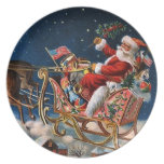 Santa Claus is Comming to Town Dinner Plates