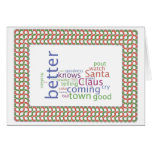 Santa Claus is comming to town Greeting Cards