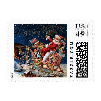 Santa Claus is Comming to Town Stamp