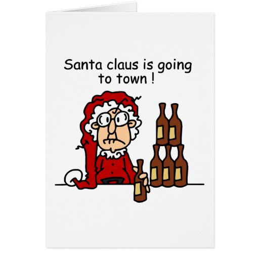 Santa Claus is Going to Town Greeting Cards