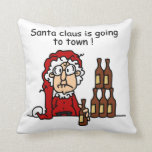 Santa Claus is Going to Town Pillow