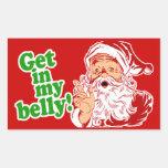 Santa Claus is Hungry Rectangular Sticker