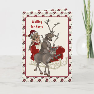 Late christmas cards zazzle santa claus is late christmas card m4hsunfo