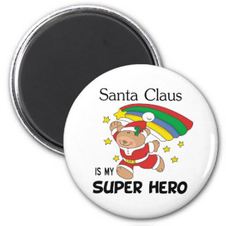Santa Claus is My Superhero Christmas Refrigerator Magnets