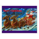 "santa-claus-is-sending-gifts 4.25"" x 5.5"" invitation card"