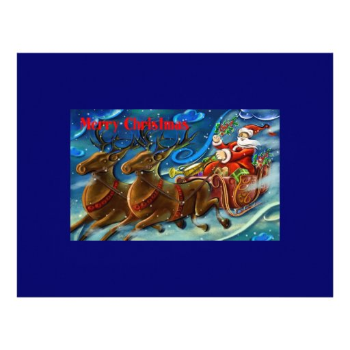 santa-claus-is-sending-gifts personalized letterhead