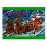 santa-claus-is-sending-gifts postcards