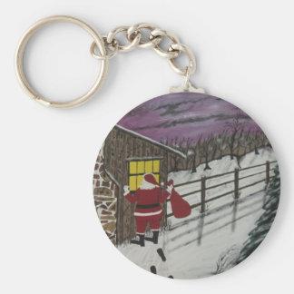 Santa Claus Is Watching Keychains