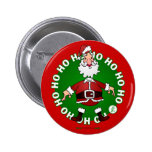 Santa Claus jumps 4 Christmas Buttons
