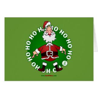 Santa Claus jumps 4 Christmas Greeting Cards