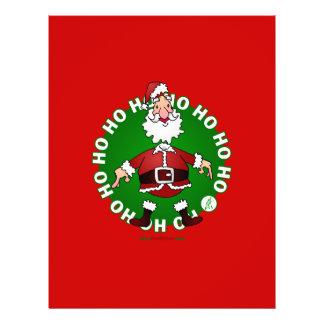 Santa Claus jumps 4 Christmas Flyer Design