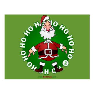Santa Claus jumps 4 Christmas Postcard