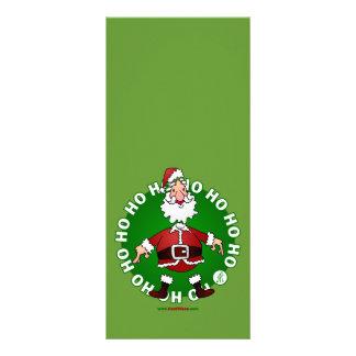Santa Claus jumps 4 Christmas Rack Cards