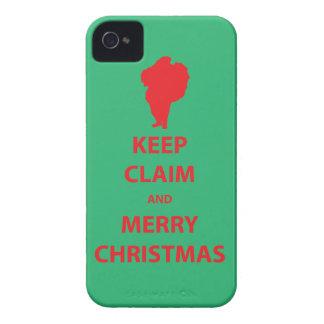 Santa Claus Keep Claim and Merry Xmas iPhone4 case