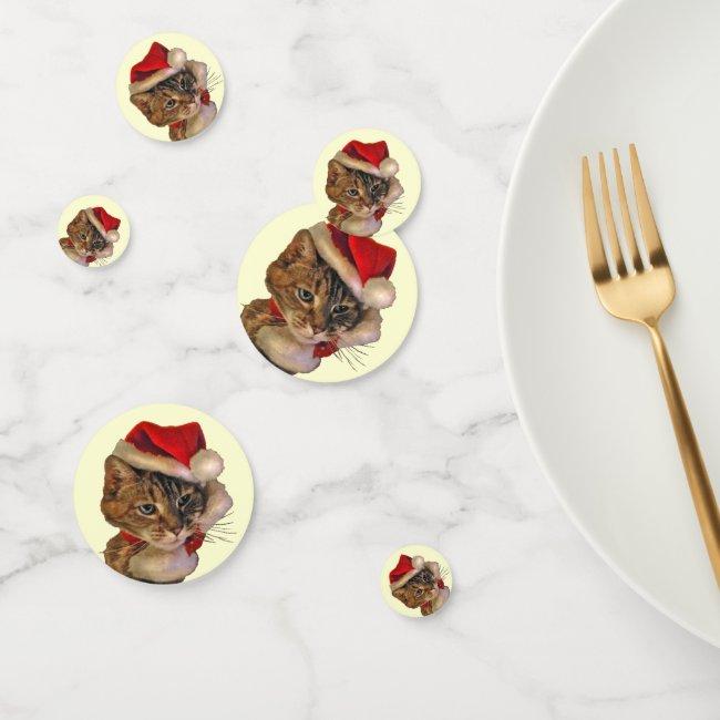Santa Claus Kitty Cat Table Confetti